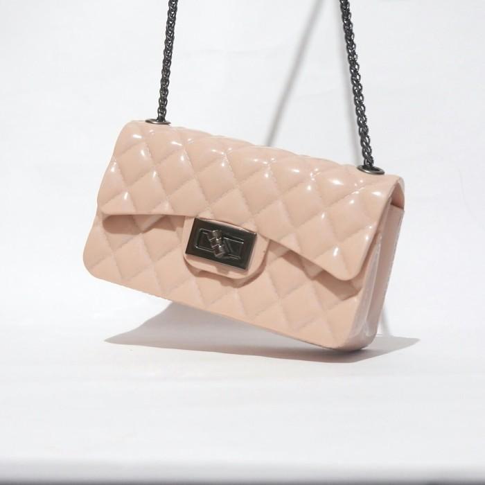 mini jelly glossy tas chanel tas wanita pesta import murah wanita - Maroon b4d0d28aef