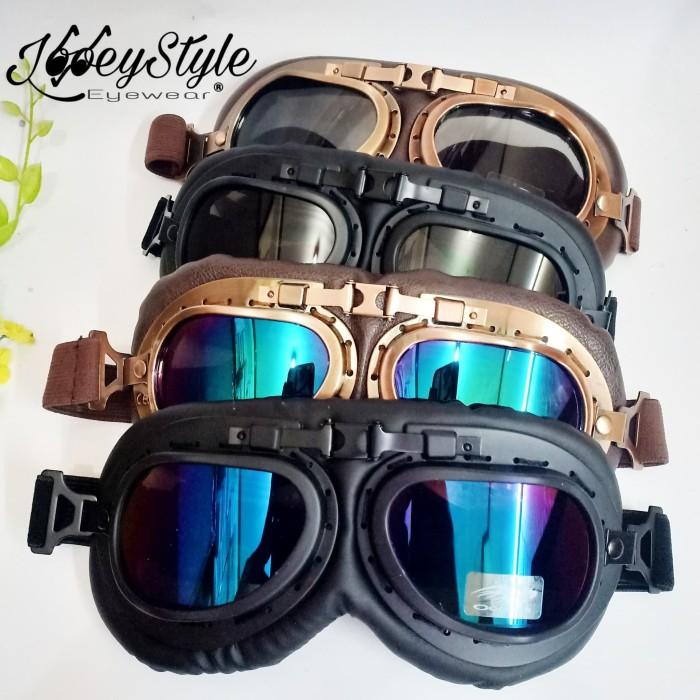 harga Kacamata goggle aviator motor aksesoris vespa scooter Tokopedia.com