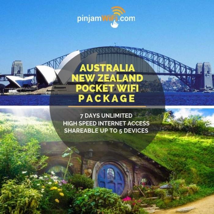Jual Sewa Pinjam Wifi Australia New Zealand 7 Day Unlimited Share 5 Device  - Jakarta Utara - Pinjam WiFi - OS | Tokopedia