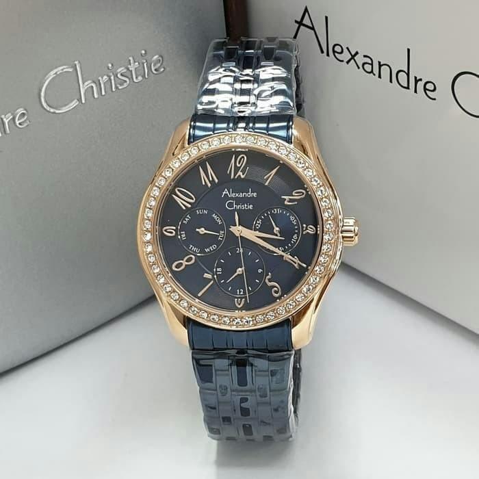Jual JAM TANGAN WANITA ALEXANDRE CHRISTIE AC2497 BLUE ROSEGOLD ... 511572045c