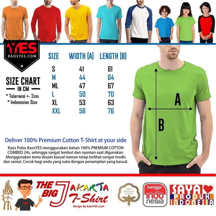 KaosYES Kaos Polos T-Shirt O-NECK LENGAN PENDEK