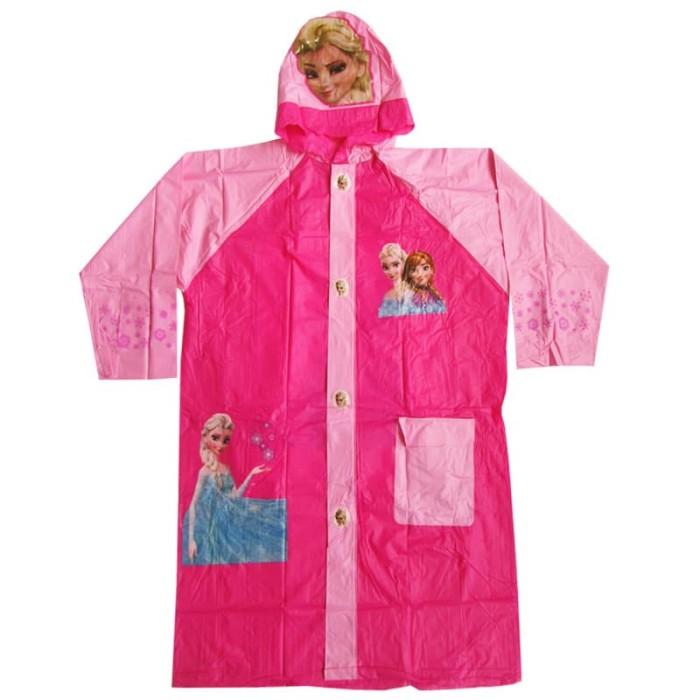 Jas hujan anak karakter frozen 5025b (terusan dgn tempat tas)