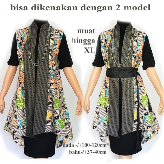 Jual Outer Batik Tunik Batik Gamis Batik Atasan Batik Wanita A548