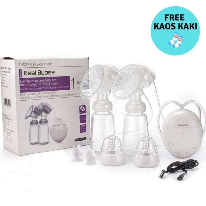 Real Bubee Pompa ASI Elektrik Otomatis 2 Botol Susu Breastpump