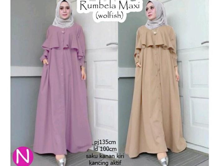 Jual Cn 8569 Rumbella Maxi Hijab Baju Muslim Modis Modern Simple 2e3ebcfac5