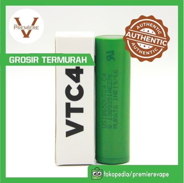 ... 3000Mah 40A Baterai Rokok Elektrik ... Source · Sony VTC4 Battery Authentic | Baterai 18650 | Batre Vape Not MXJO/AWT