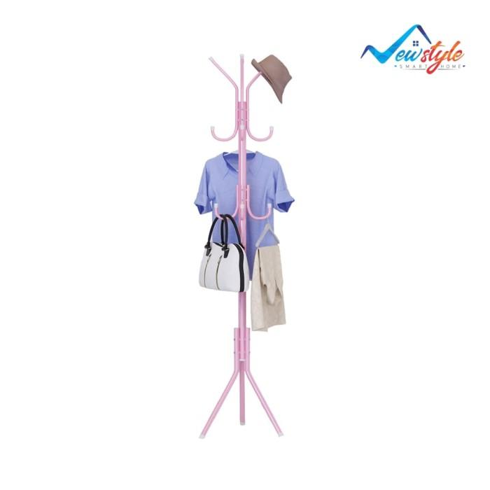 Jual Multifunction Standing Hanger Gantungan Baju Topi Tas Serbaguna ... c506d87e29
