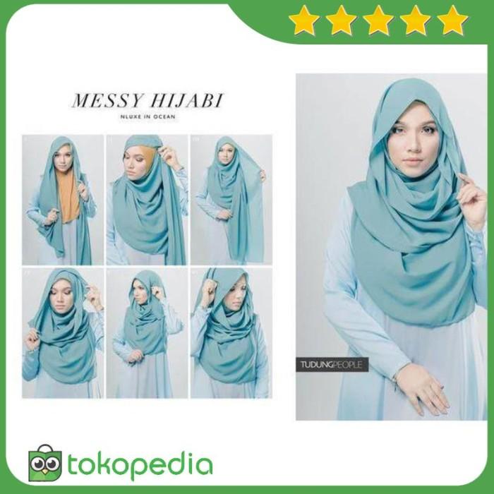 Teks Prosedur Cara Memakai Hijab Segi Empat Sketsa