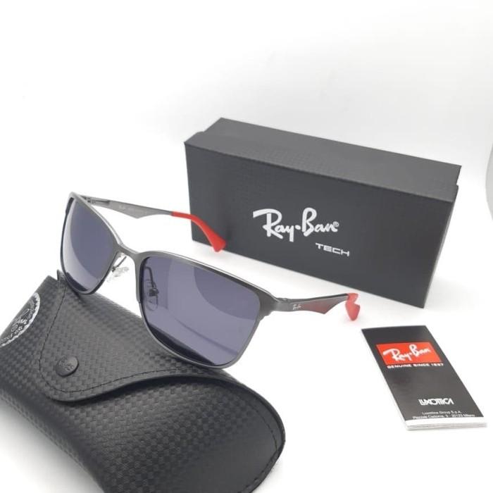 kacamata Rayban 3508 sunglasses sport lensa polarized kw super - Abu-abu 579155a9f5