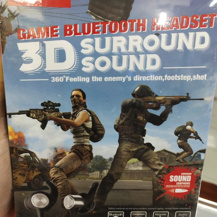 harga Headset bluetooth game 3d surround sound 360° feeling foot step shot Tokopedia.com