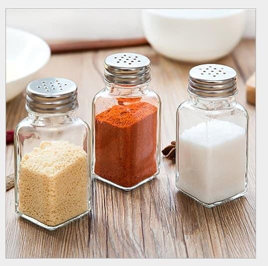 Tempat Merica / Lada / Garam / Gula / Bumbu - Botol KACA