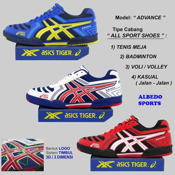 Jual Sepatu Tenis Meja Pingpong Asics Tiger ADVANCE Bet Bat Bad ... 01ebbe829c