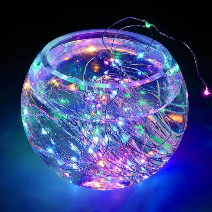 Lampu Hias Dekorasi USB Powered 50 LED 5 Meter - Multi-Color