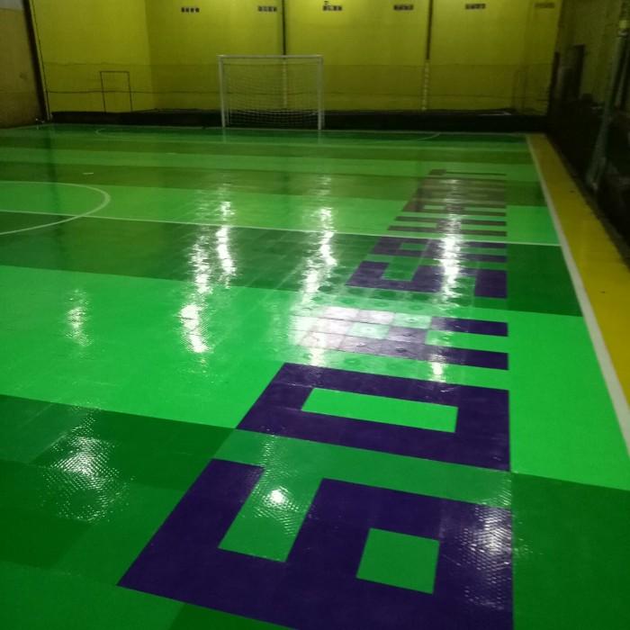 lantai interlock flooring multifungsi lapangan futsal/badminton/basket -