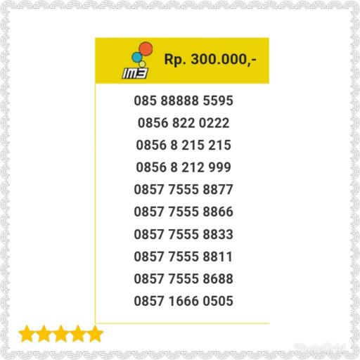 Nomor Cantik Indosat IM3 Seri Kuartet 9999 0858 9999 0717 Unik H11 .