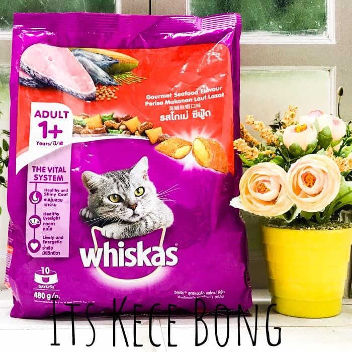 ... Whiskas Adult Gourmet Seafood 480gr Makanan Kucing