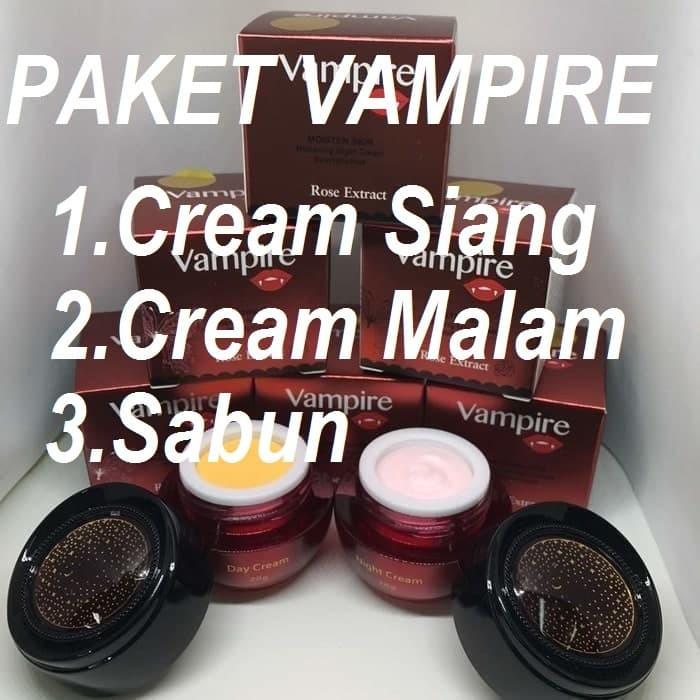 harga Obat cream pemutih kulit wajah siang malam vampire bpom asli original Tokopedia.com