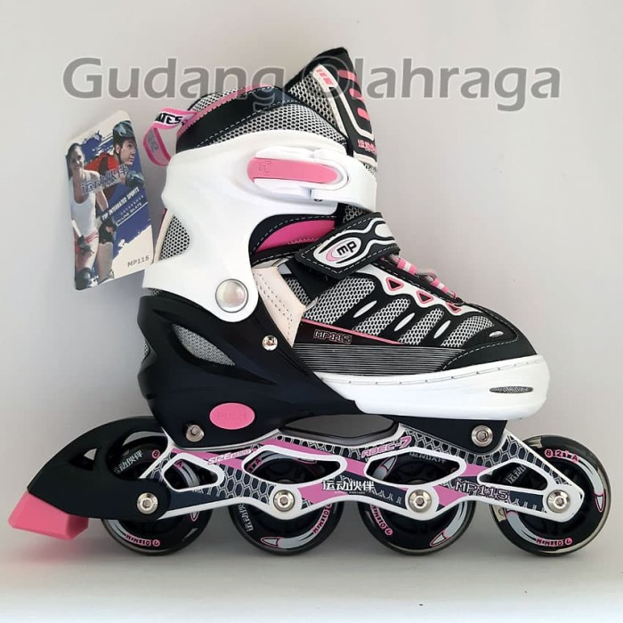 harga Sepatu roda ban karet / inline skate pu wheels anak dan dewasa Tokopedia.com