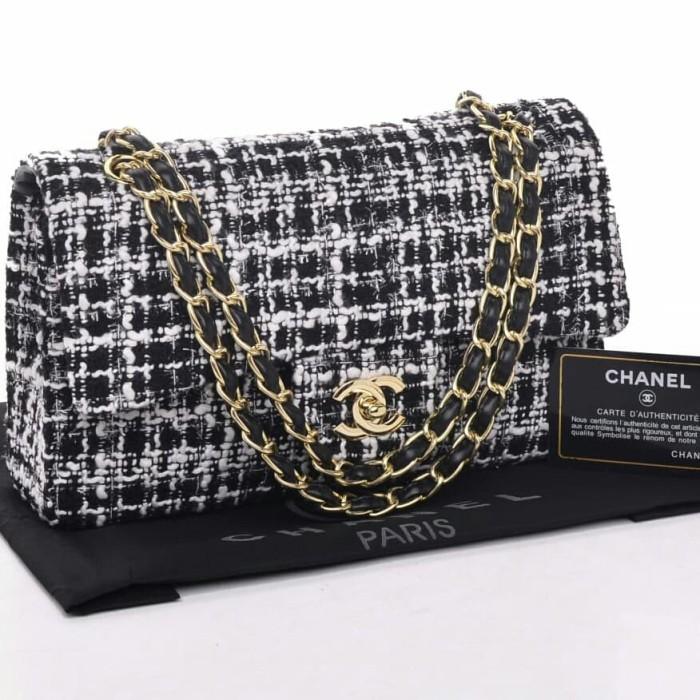af6bb30a8ea9 Jual Tas CHANEL Tweed Classic Flap Bag (07)* - Visakha Shop | Tokopedia