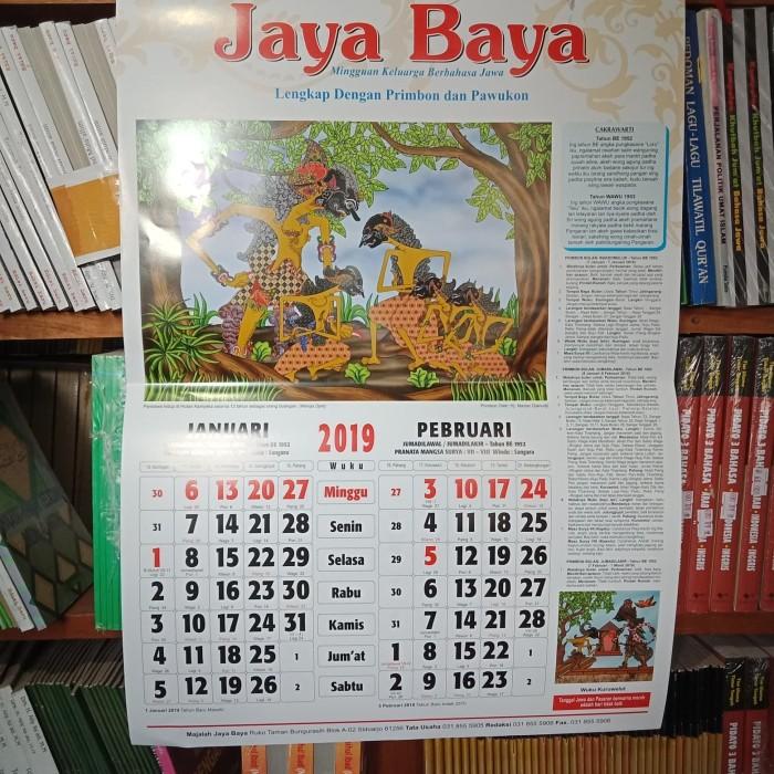 Jual Kalender Jawa Jayabaya 2019 Toko Buku Restu Tokopedia