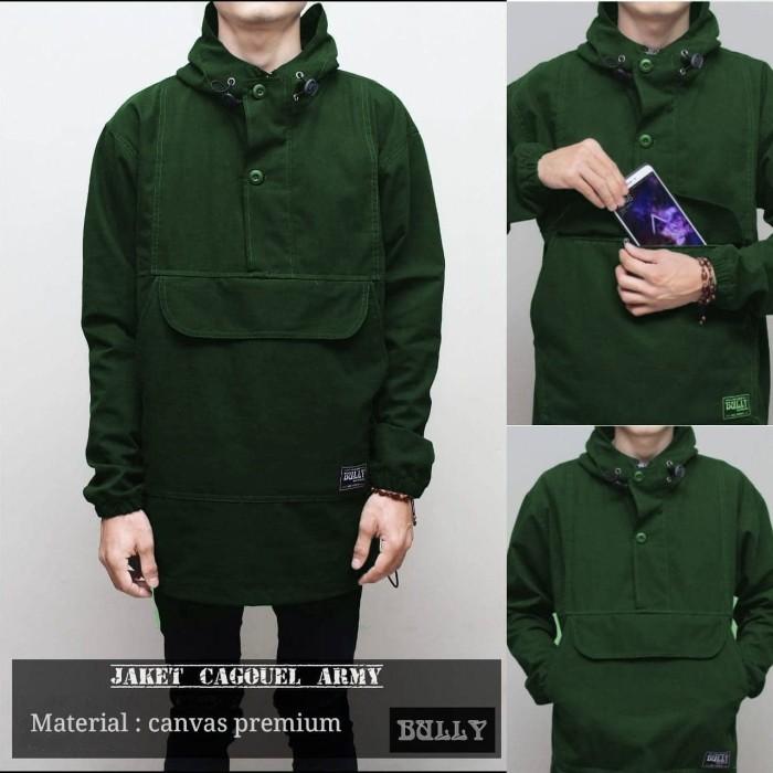 Jaket parka canvas pria cagouel army premium murah