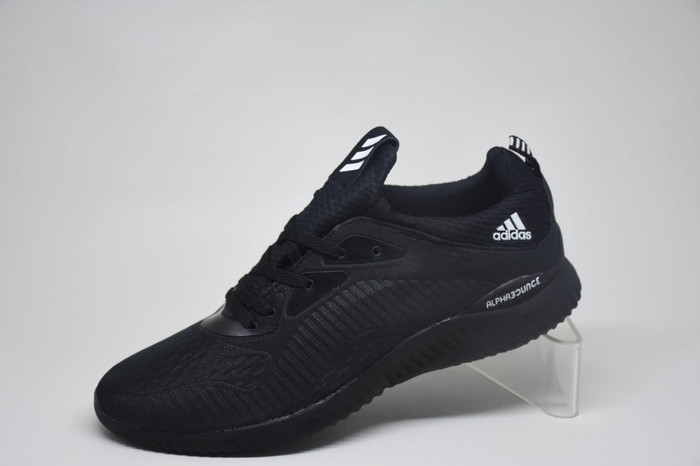 07517017132f6 Sepatu adidas alphabounce triple black   hitam pria wanita sekolah ...