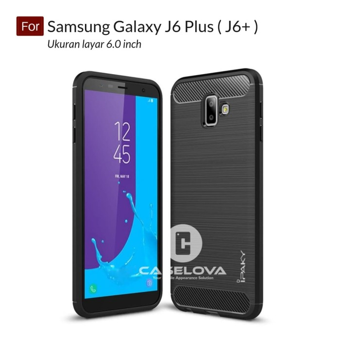 Jual Case For Samsung Galaxy J6 Plus J6 Softcase Ipaky Carbon