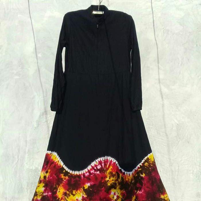 Jual Gamis Batik Jumputan Sasirangan Motif Gelombang Abstrak Handmade Kota Pekalongan Model Baju Modernku Tokopedia
