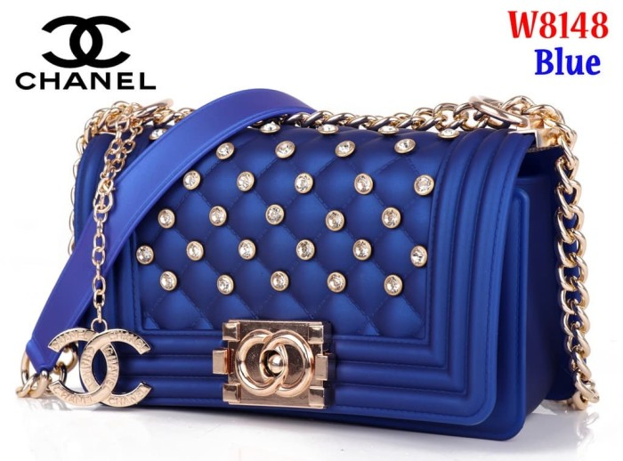 2acce80a7c10 Jual Tas Bag Impor Import Chanel Jelly Classic W8148 8148 Biru Blue ...