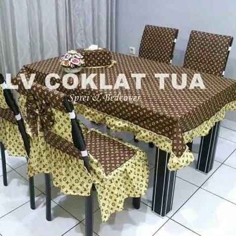 set cover kursi+ taplak meja+ tempat tisu