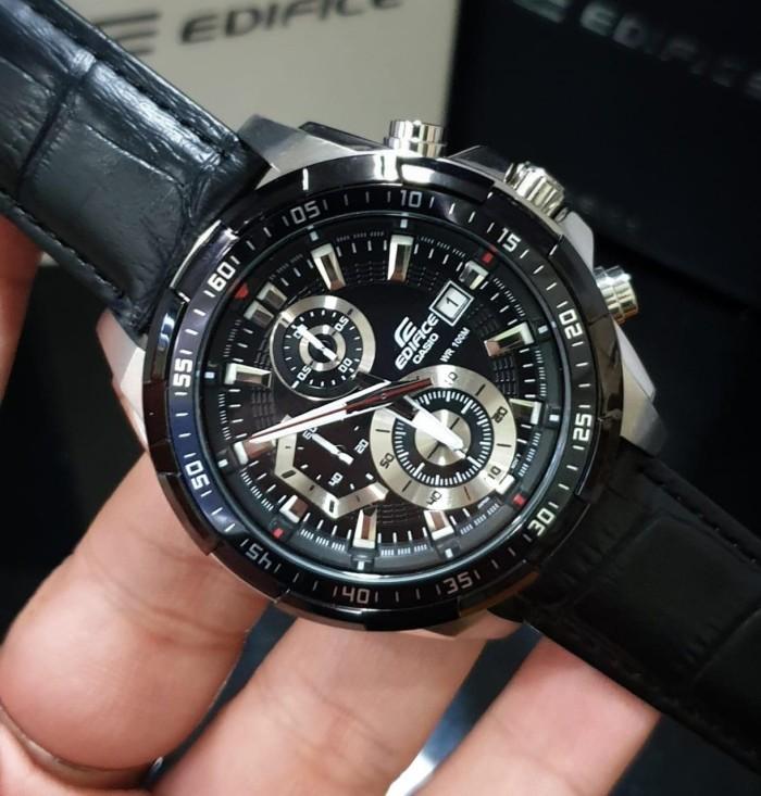 db68ca3f2fc6 Jual Casio Edifice Ef539 Ef 539 Leather Black Original Bm