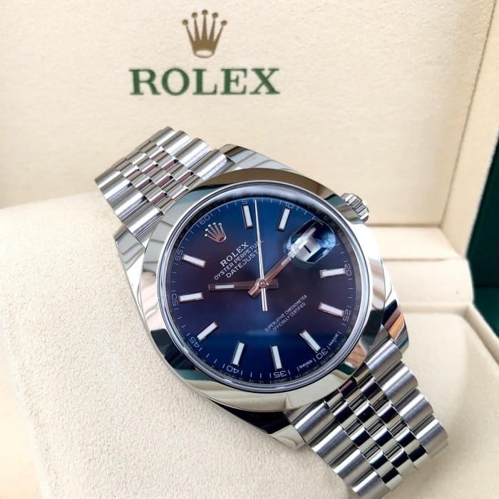 jual jam tangan Rolex dj41 datejust 41 126300 blue dial 2018 e8e9a4f532