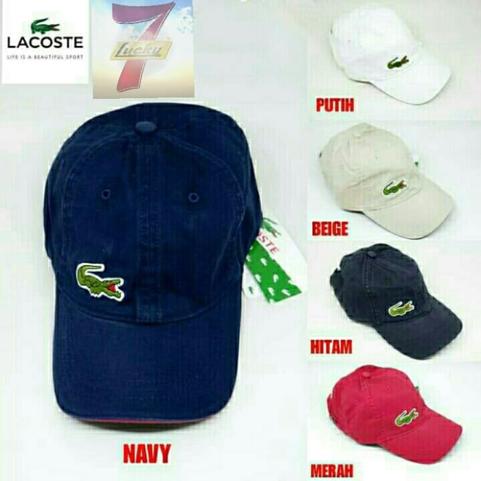 9f324e23bb1 Jual Topi baseball LACOSTE big croc logo 5 warna import quality ...