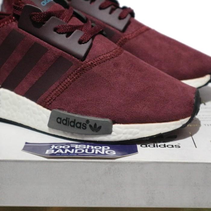 36f419be2 Jual Sneakers Adidas NMD R1 Burgundy Maroon Suede 37 - 44 Premium ...