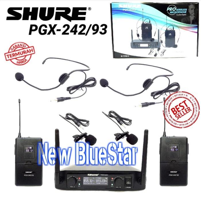 harga Mic wireless shure pgx 242 93 headset - jepit Tokopedia.com