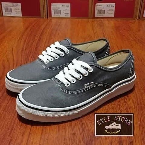 vans authentic grey white