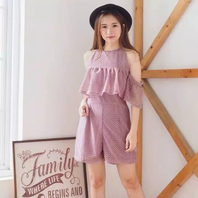Jual Jumpsuit Wanita Brokat Baju Fashion Atasan Wanita (REALPIC ... ba9a029d53