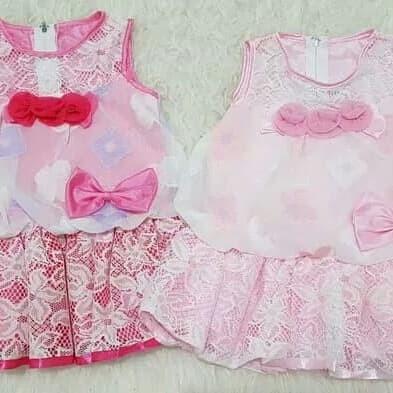 Jual Baju Dress Gaun Pesta Kondangan Anak Bayi Perempuan Bunga Brokat Kota Depok Azka Nuza Tokopedia