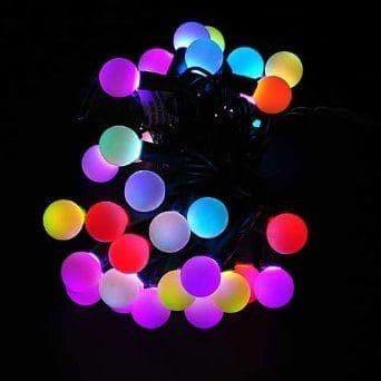 Lampu tumblr bulat bola anggur warna warni rainbow lampu natal led