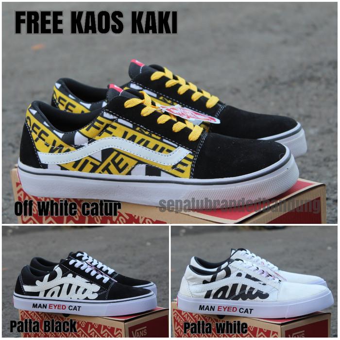 Jual sepatu vans oldskool x patta eyed cat . sepatu sneakers pria Kota Banjarmasin uniqlucky | Tokopedia