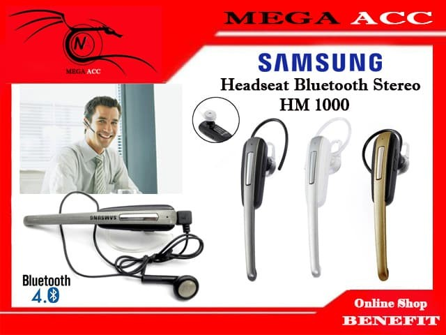 harga Bluetooth headset samsung galaxy s4 - hm1000 ( dual phone connection ) Tokopedia.com