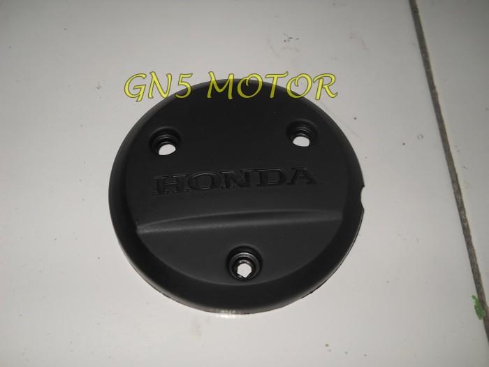Tutup blok kopling supra x 125 hitam / cover mesin protetor