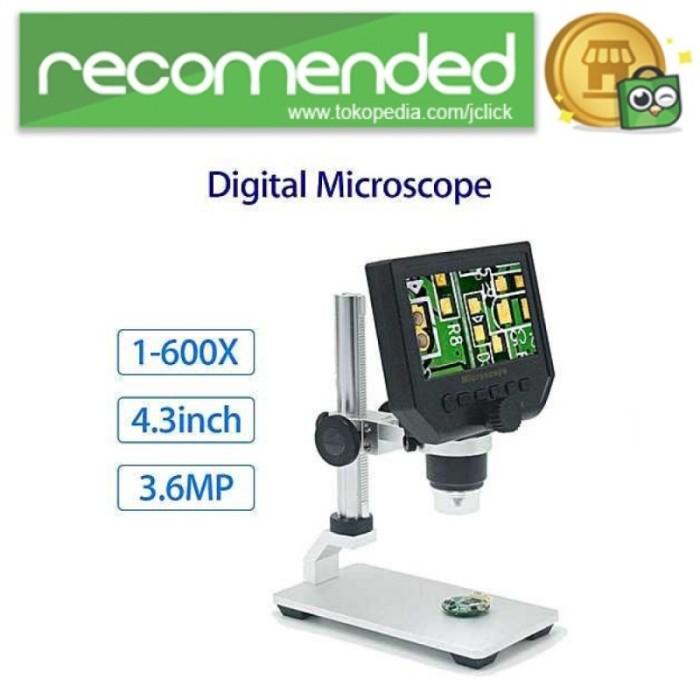 harga Mikroskop digital 3.6mp 600x dengan monitor & metal stand - g600 - si Tokopedia.com