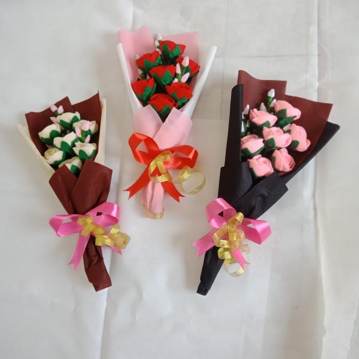 Jual Buket Bunga Mawar Flanel Hadiah Wisuda Kota Tangerang