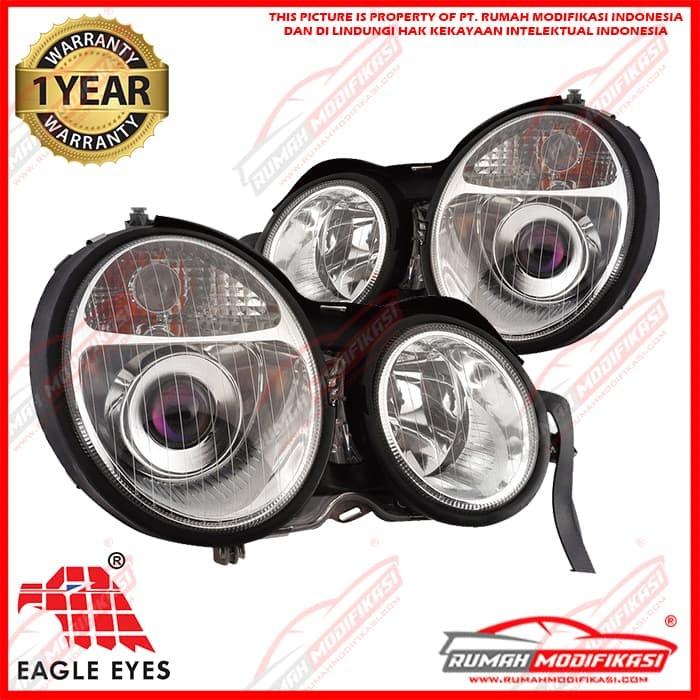 harga Headlamp - benz w210 1999-2002 - eagleeyes - projector - chrome Tokopedia.com