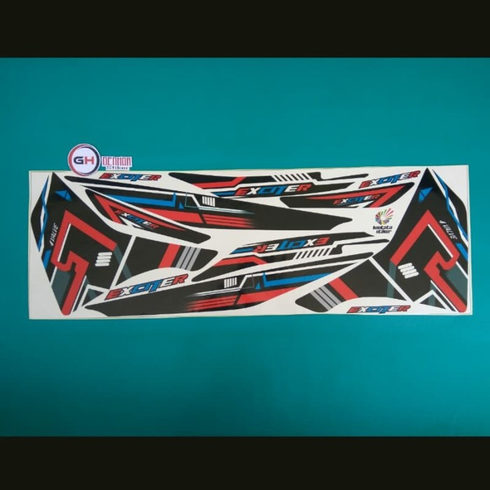 Stiker striping motor yamaha jupiter mx new exciter merah hitam ...