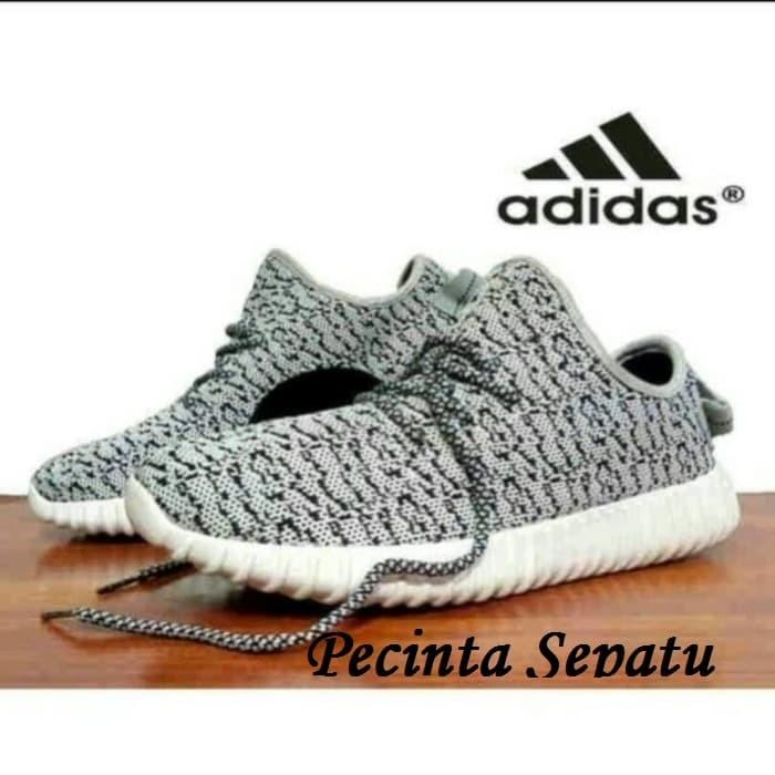 5f7a3beab760 Sepatu Adidas Yeezy Yzy Yezzy Boost 350 Grey Moonrock Grade Ori Import -  Hitam