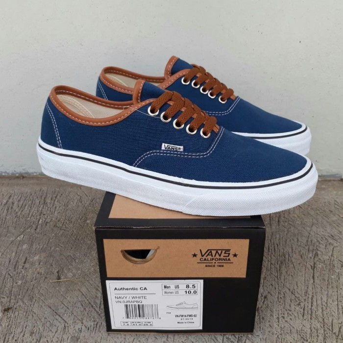 release date 29d02 8dff6 Jual SEPATU SNEAKERS VANS AUTHENTIC CALIFORNIA DRESS BLUE ORIGINAL BNIB -  Kab. Bandung - G-N_Shop | Tokopedia