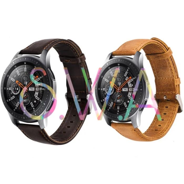 harga Samsung galaxy 46mm strap kulit leather watch band tali jam tangan Tokopedia.com