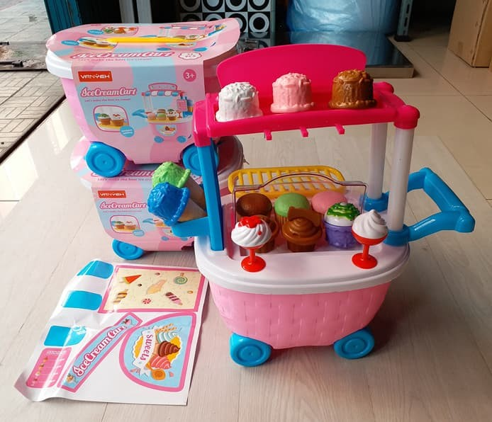 harga Mainan ice cream shop cart gerobak es krim dorong 32pcs no.5c509 Tokopedia.com